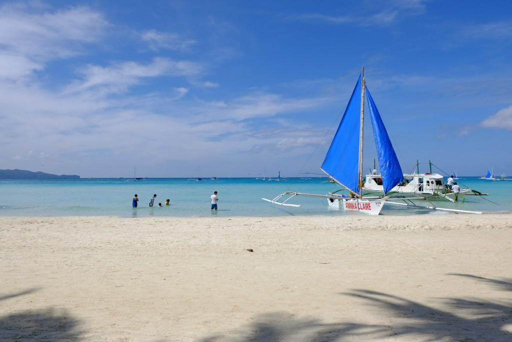 Baltasis paplūdimys Filipinuose